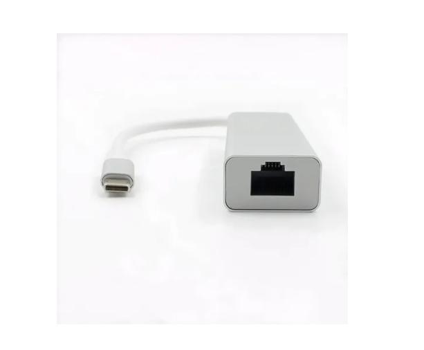 Hub Usb De 3 Portas Type-c Para Rj45 1000mbps Gigabit Lan