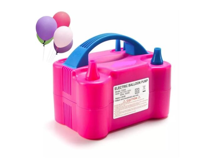 Inflador Compressor de Bexiga Balão com 2 Bicos