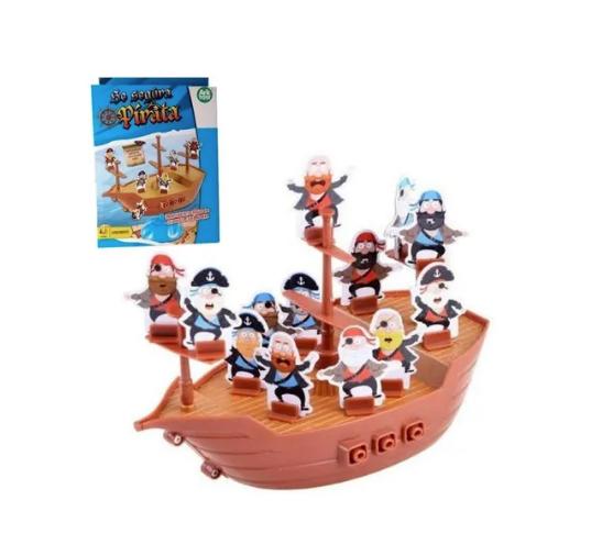 Jogo Interativo Para Crianças Se Segura Pirata Com 38 Peças