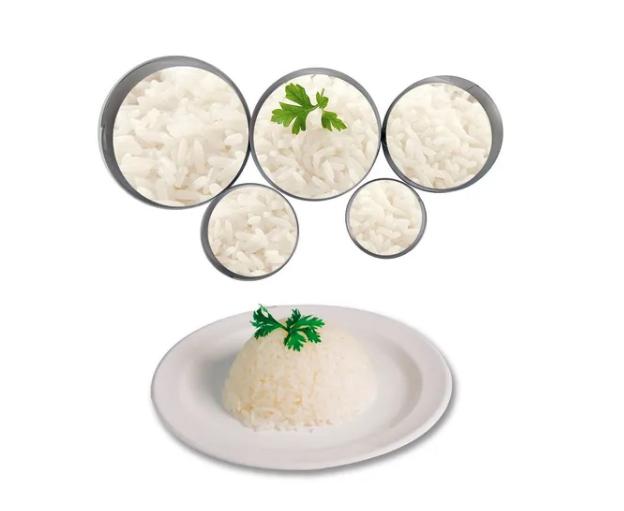 Kit 5pçs Molde Guarnições Inox Medidas Precisão Cozinha Casa