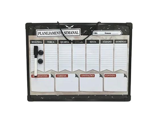Lousa Magnética Planejamento Semanal - 30x40cm
