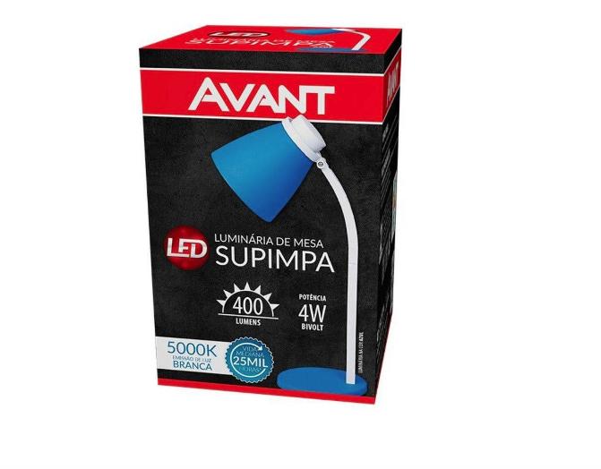 Luminária/abajur De Mesa Supimpa Led 4w Bivolt 5000k
