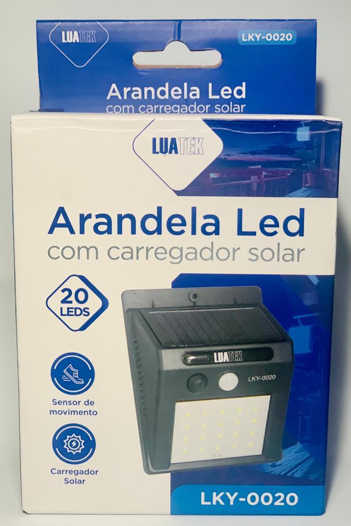 Luminária Led Arandela Solar 20 Leds Com Sensor De Presença