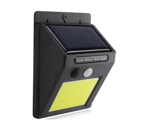 Luminária Led Arandela Solar 48 Leds Com Sensor De Presença