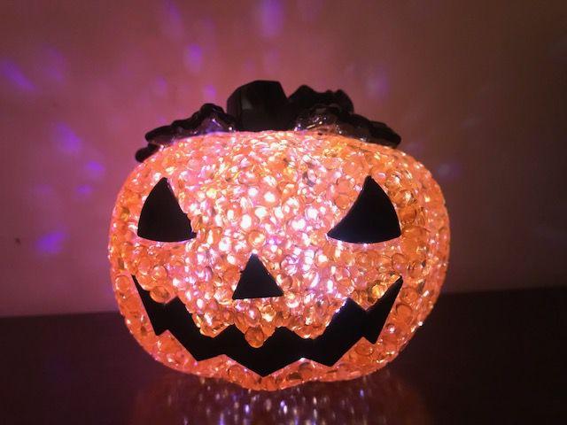 Luminária Led De Abóbora Decoração Halloween Festa Bruxas