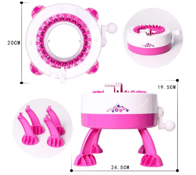 Máquina De Fazer Tricô Croché Gorro Meia Touca Cachecol Lã