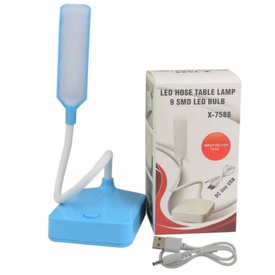 Mini Luminária De Mesa Com Led E Cabo Flexível X-7588