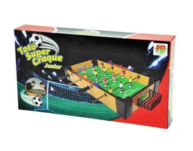 Mini Mesa Pebolim Futebol Totó Com Placar E Bola(40x22x7cm)