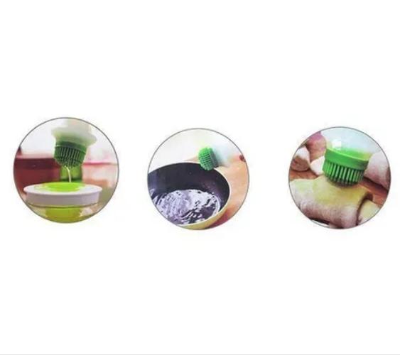 Pincel De Silicone Para Cozinha Com Reservatório De Vidro