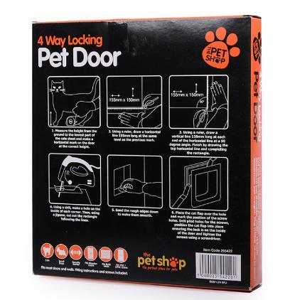 Porta Branca Evitar Passagem Gato Cachorro Trava p/ Até 7kg