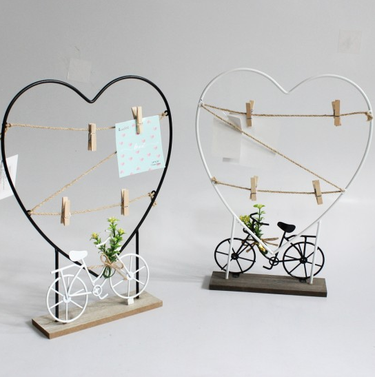 Porta Foto / Recado Armação de Coração Varal Bicicleta