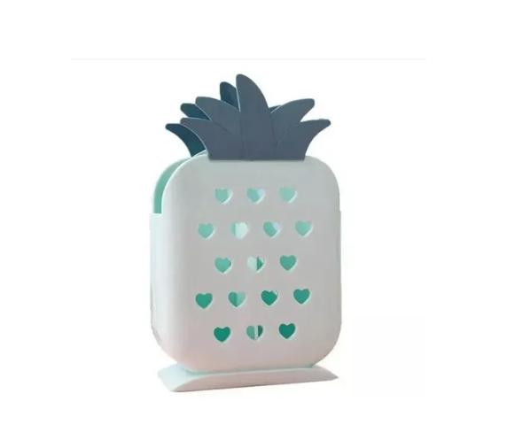 Porta Talher Utensílios Escorredor Plástico Abacaxi
