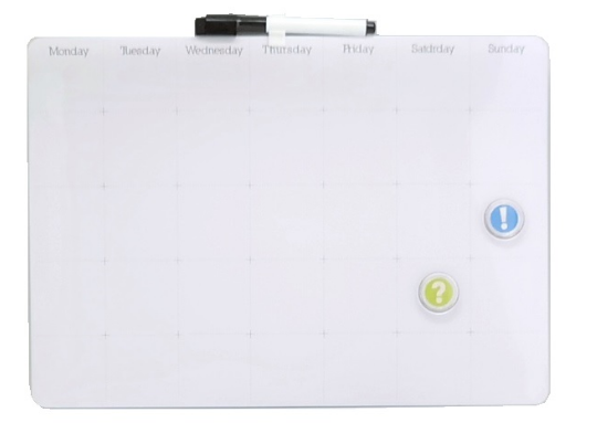 Quadro Lousa Planner Planejamento Mensal 39,5x28cm