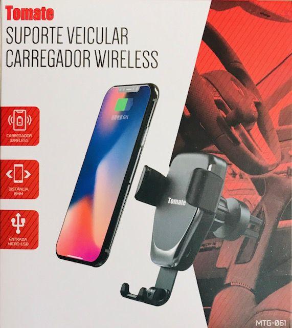 Suporte Veicular Carregador Sem Fio Wireless - Tomate