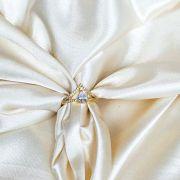 Anel Coroa com Zircônias Banhado em Ouro 18k