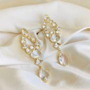 Brinco Maxi Zirconias Cristal Banhado em Ouro 18k