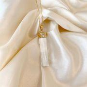 Colar Pingente de Selenita Banhado Ouro 18k