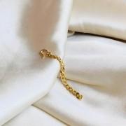 Franja de Corrente Grumet Fina Banhado em Ouro 18k
