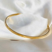 Pulseira Lisa Aro Banhada em Ouro 18k