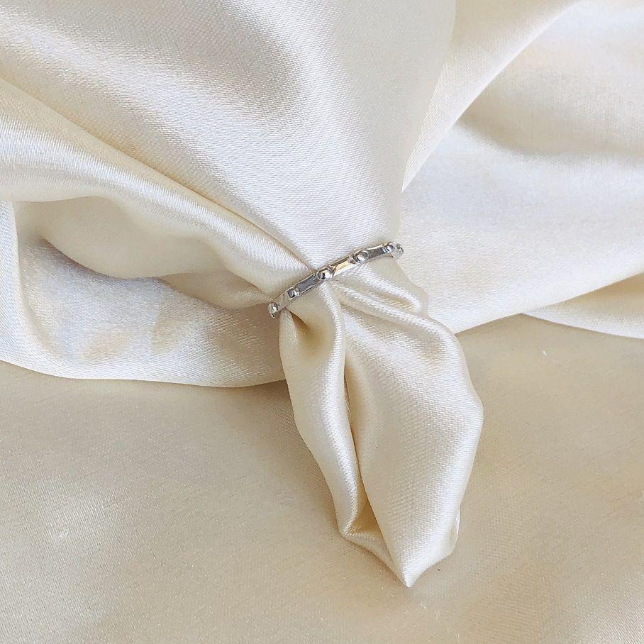Anel Tercinho de Dedo Banhado em Ródio Branco