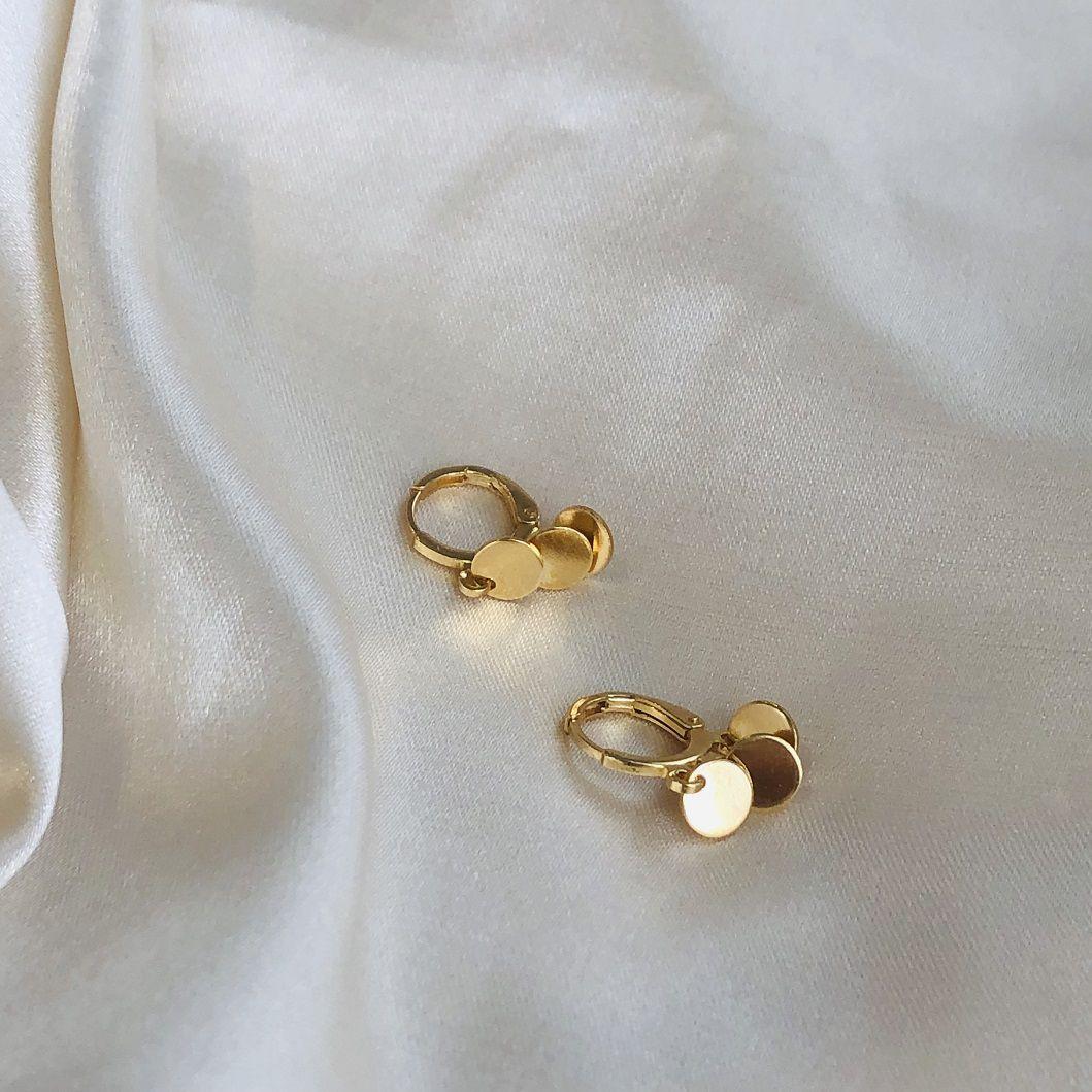 Argolinha com Pingentes de Medalhinhas Banhada em Ouro 18k