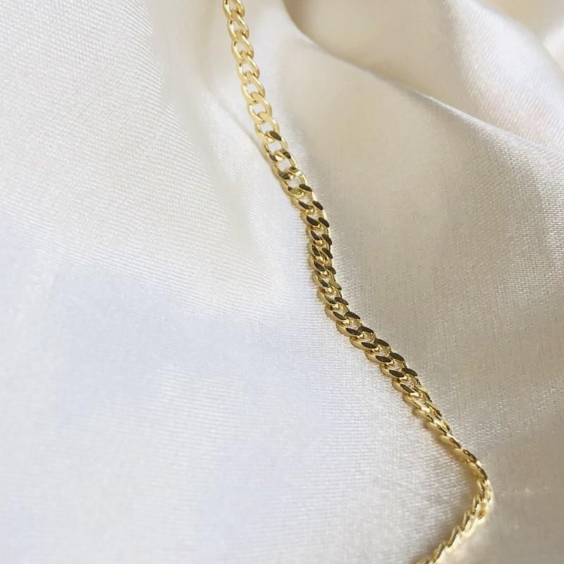 Colar Corrente Grumet Banhado em Ouro 18k