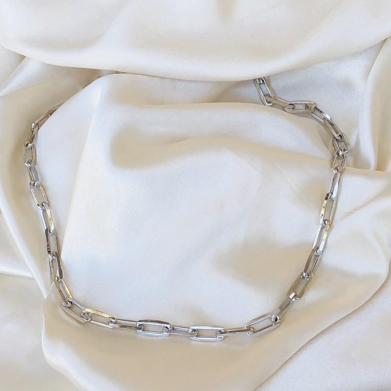 Colar Maxi Cartier Banhado em Ródio Branco