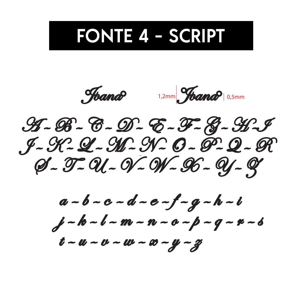 Colar Personalizado Nome Fonte Script Banhado