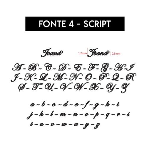 Colar Nome Personalizado Fonte Script Banhado (Sob Encomenda)