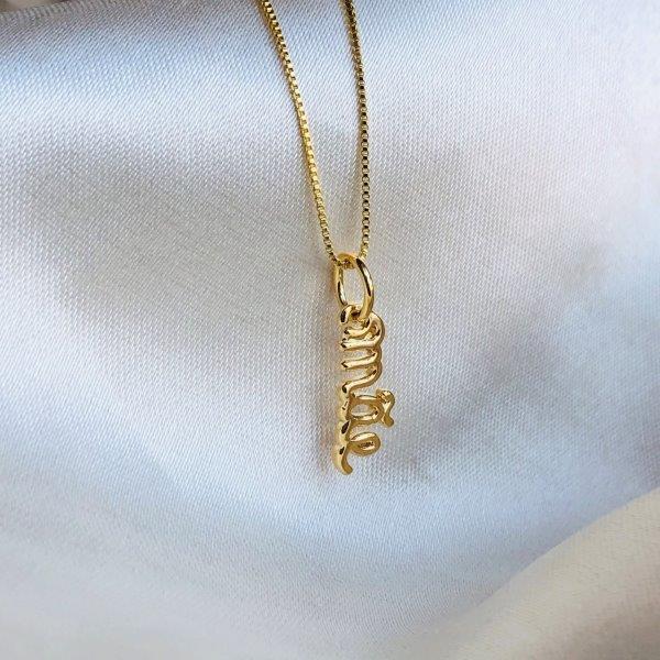 Colar Pingente Mãe Banhado em Ouro 18k