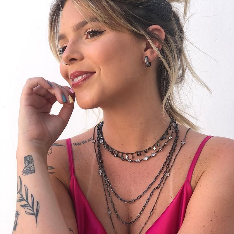 Mariana Gallo - Look em Ródio Negro