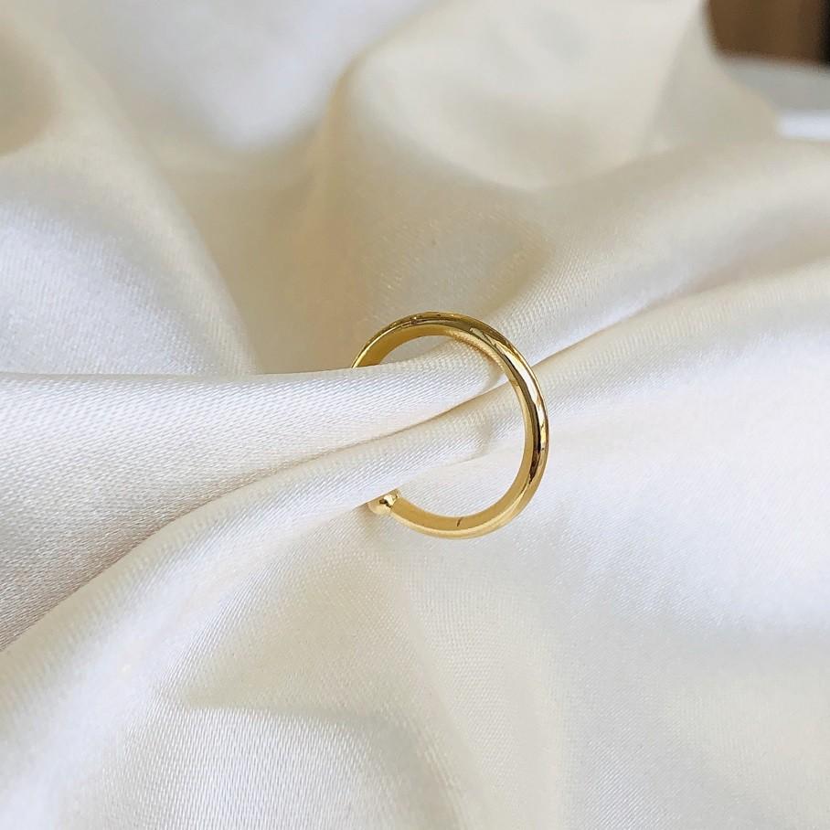Piercing de Pressão Básico Liso Banhado em Ouro 18k
