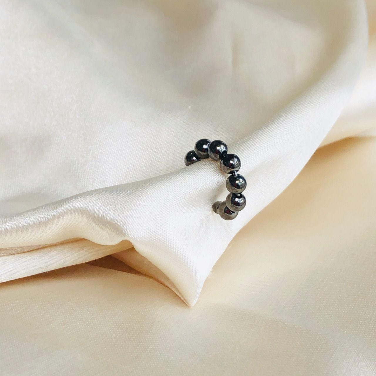 Piercing de Pressão Bolinhas Pequenas Banhado em Ródio Negro