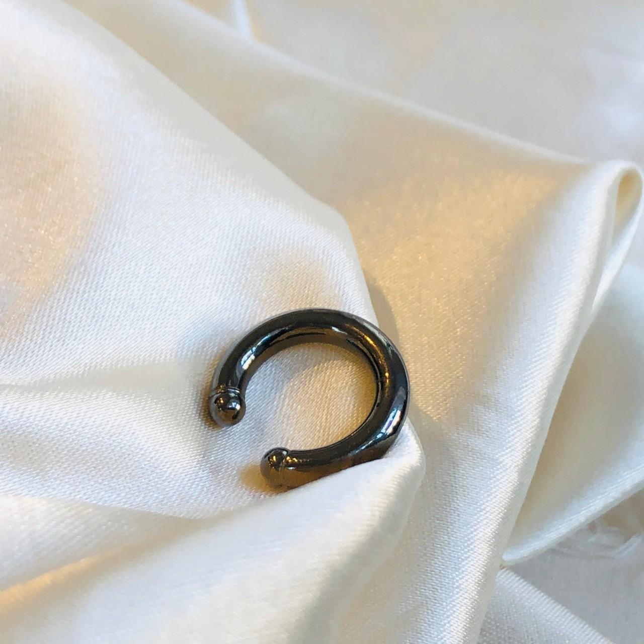 Piercing de Pressão Tubo Liso Banhado em Ródio Negro
