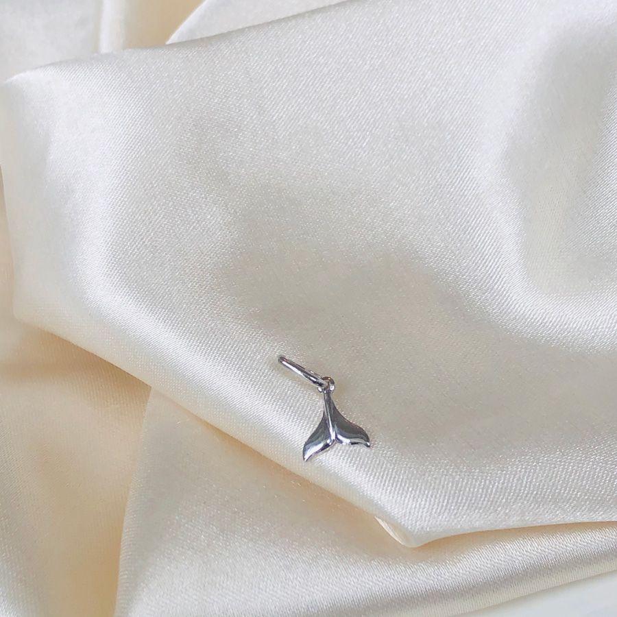 Pingente Sereia Banhado em Ródio Branco
