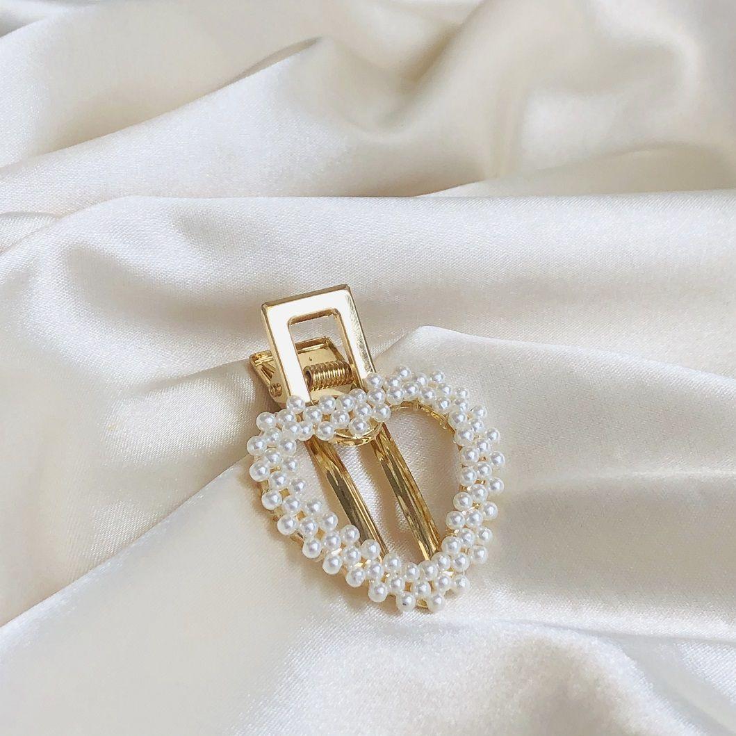 Presilha Coracao Mini Pérolas Banhada em Ouro 18k