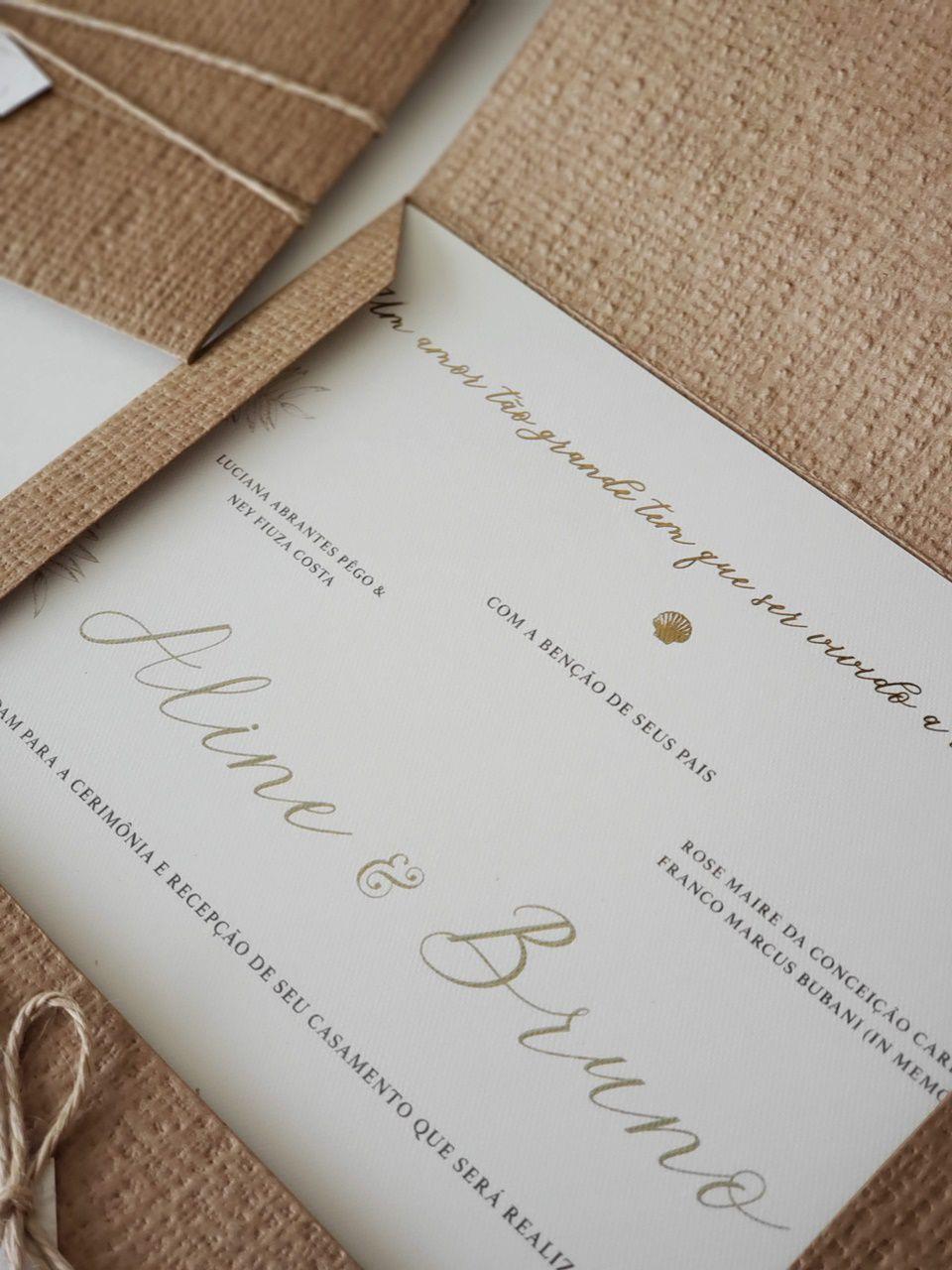 Convite Aline e Bruno