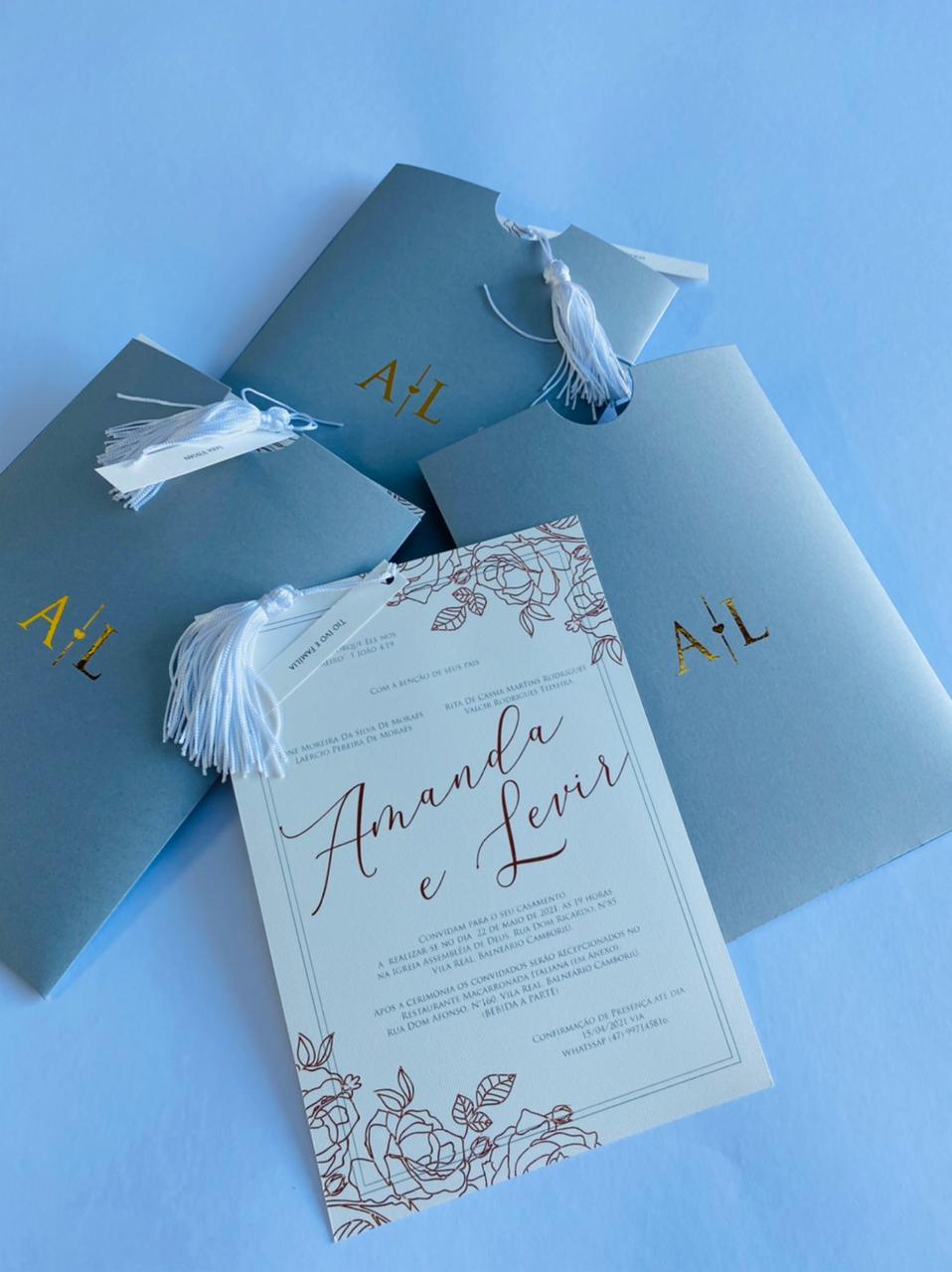 Convite Amanda e Levir