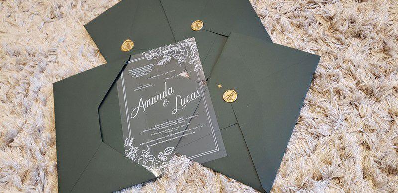 Convite Amanda e Lucas