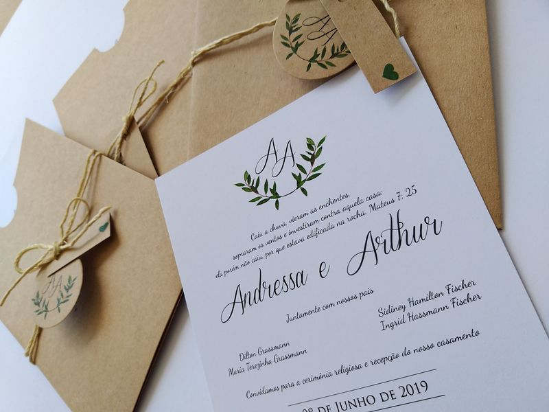 Convite Andressa e Arthur