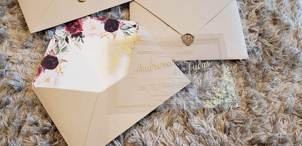 Convite Andressa e Lucas