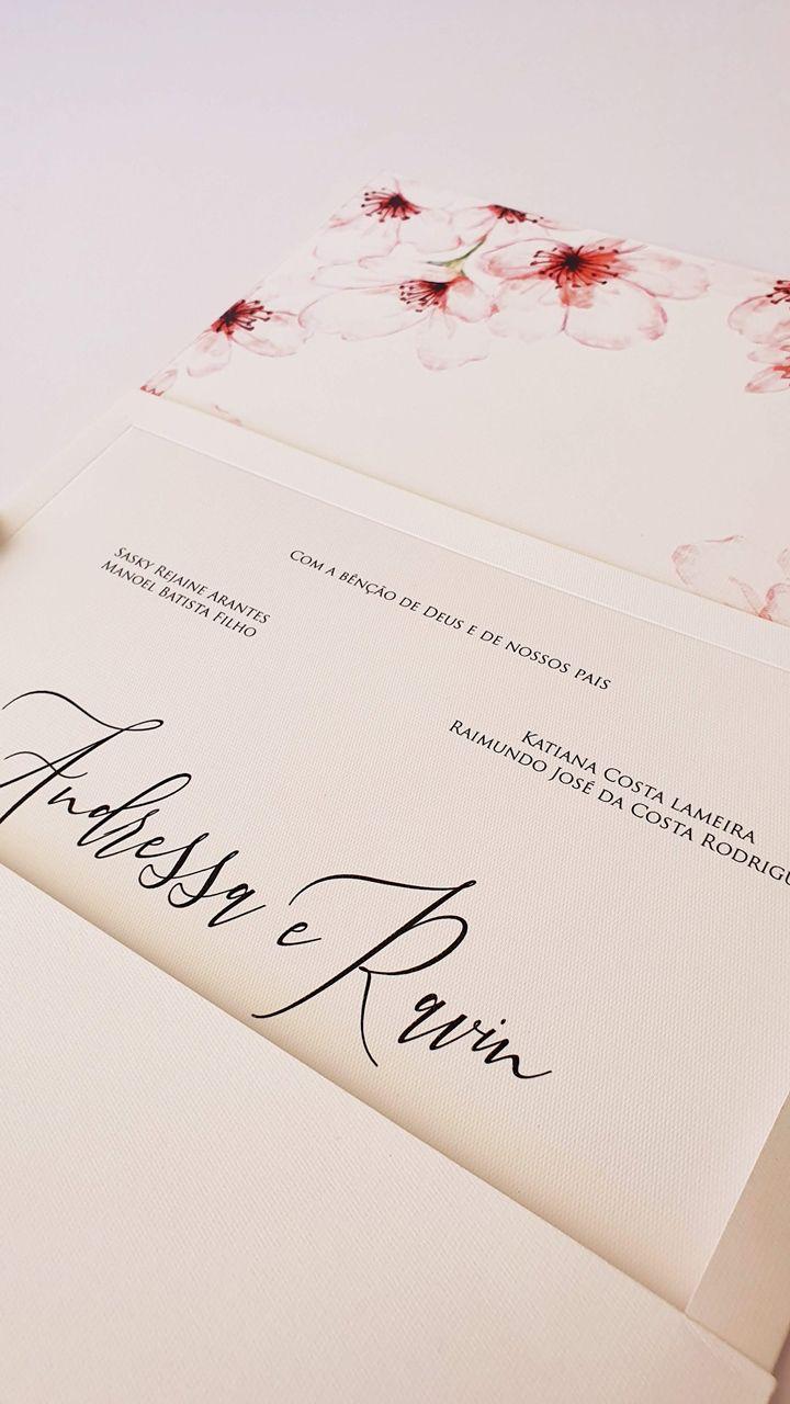 Convite Andressa e Ravin