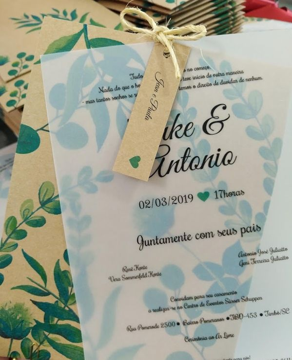 Convite Anke e Antonio
