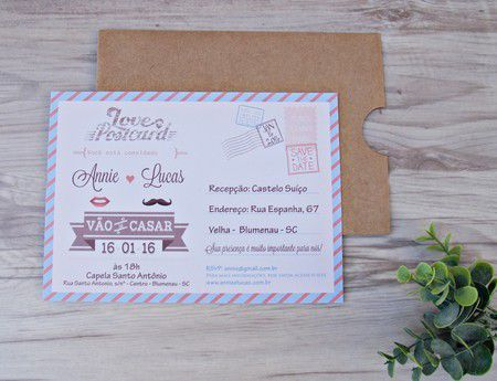 Convite Annie e Lucas