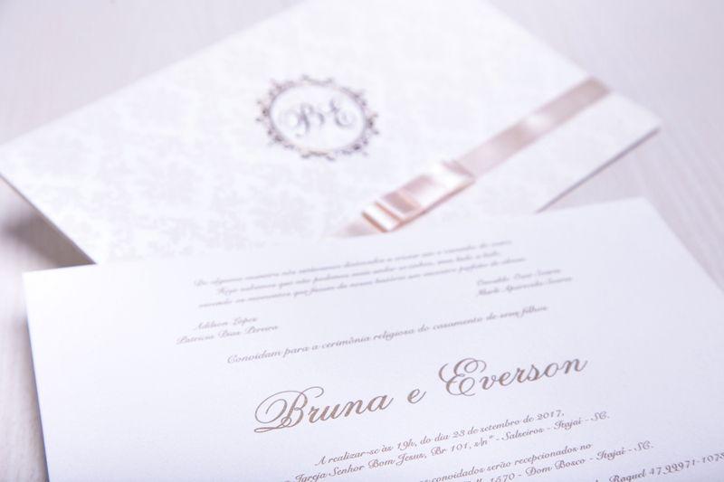 Convite Bruna e Everson