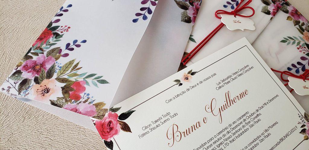 Convite Bruna e Guilherme