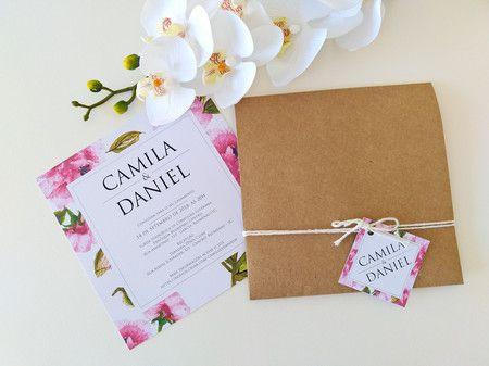 Convite Camila e Daniel