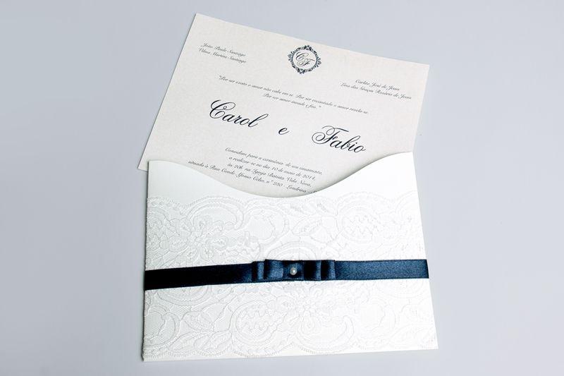 Convite Carol e Fabio