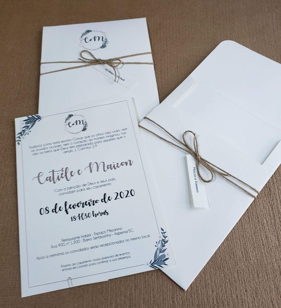 Convite Catiéle e Maicon