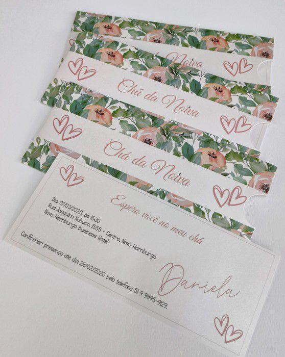 Convite Chá da Noiva - Daniela